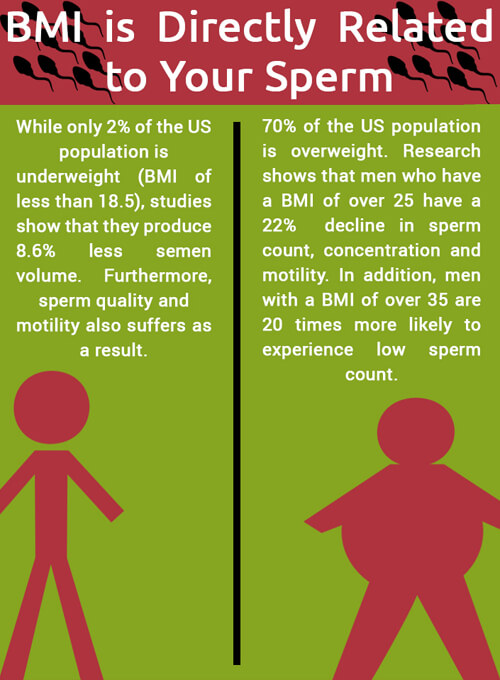 bmi sperm count male fertility
