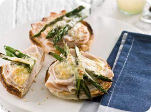 chicken asparagus and cheese melt