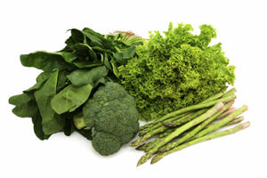 leafy greens improve fertility