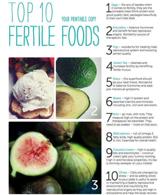 top 10 fertility foods